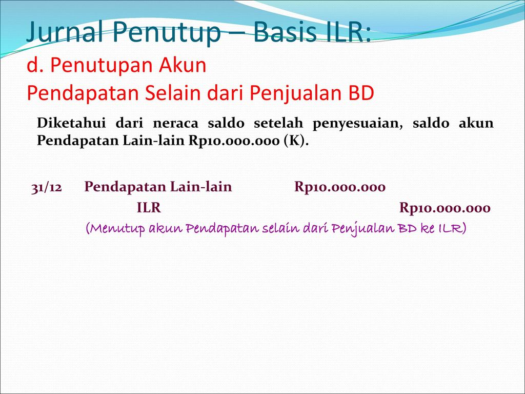 Jurnal Penutup – Basis ILR: d