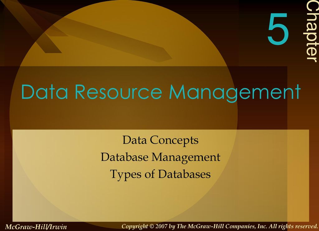an analysis of the concept of data resource management