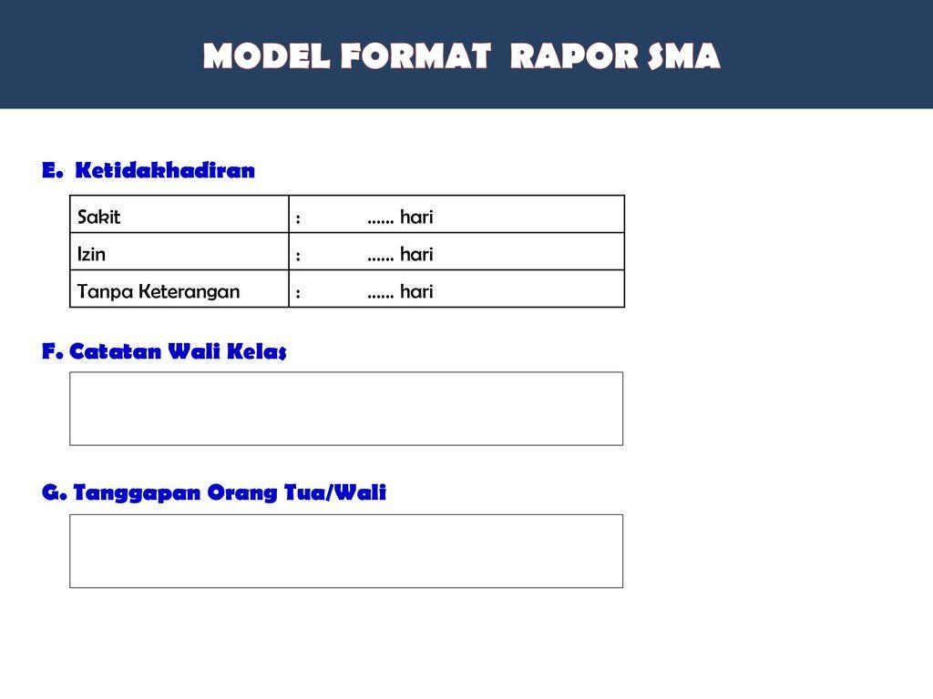 MODEL FORMAT RAPOR Pengetahuan Keterampilan Kelompok C 0 -100 A-D
