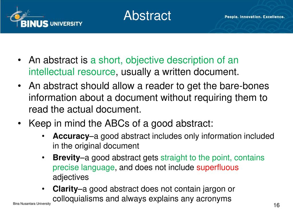 """what to include in the abstract of a thesis Abstracts have been addressed on the apa style blog before (twice, in fact  """"all manuscripts must include an abstract containing a maximum of 250 words""""."""