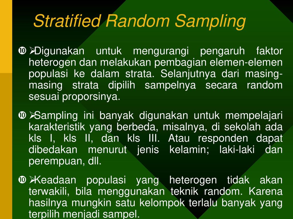 stratified random sampling in thesis This article explains (a) what stratified random sampling is, (b) how to create a stratified random sample, and (c) thesis, assignment or research report.