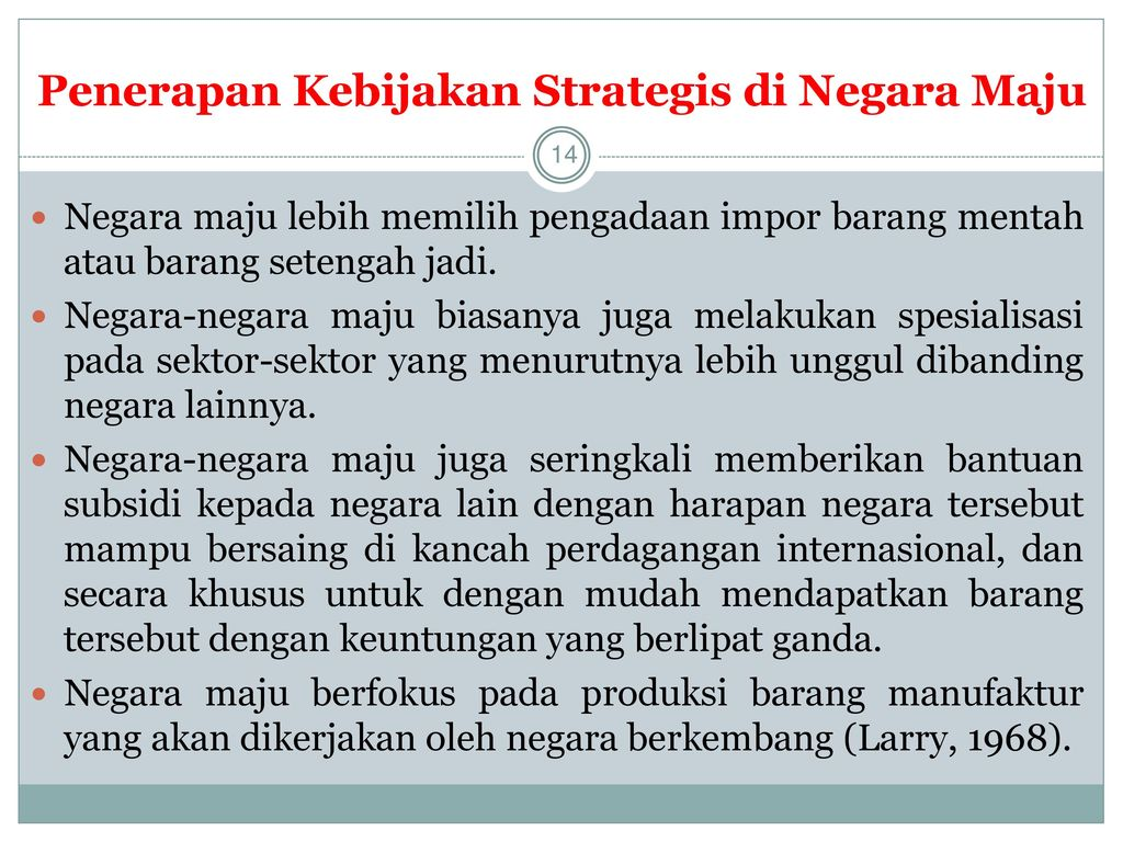 Penerapan Kebijakan Strategis di Negara Maju