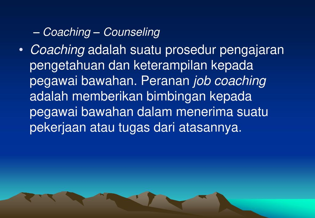 Coaching – Counseling
