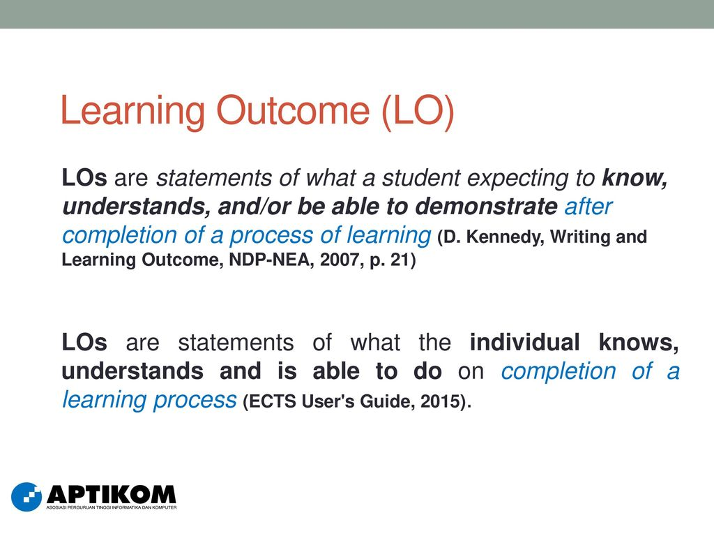Learning Outcome (LO)