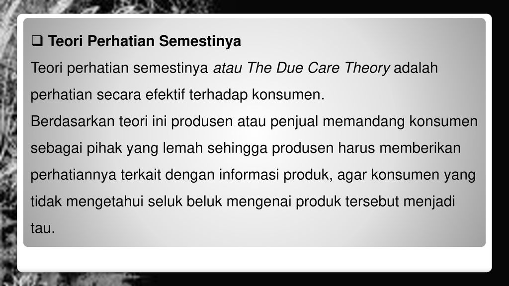 due care theory How rawls could support the due care principle due care theory starts from the assumption that the thus due care receives at least a tentative endorsement.