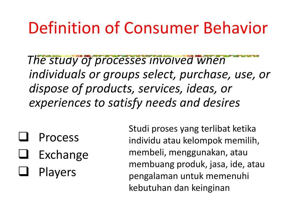 20 defination consumer behaviour