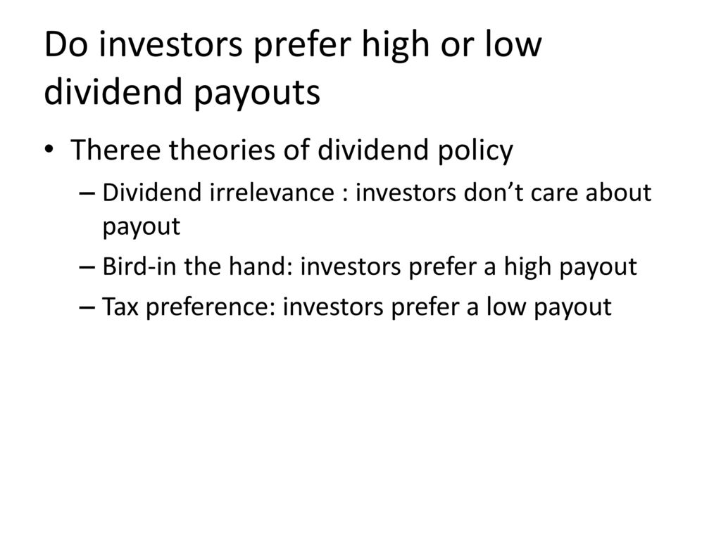 theories of dividends