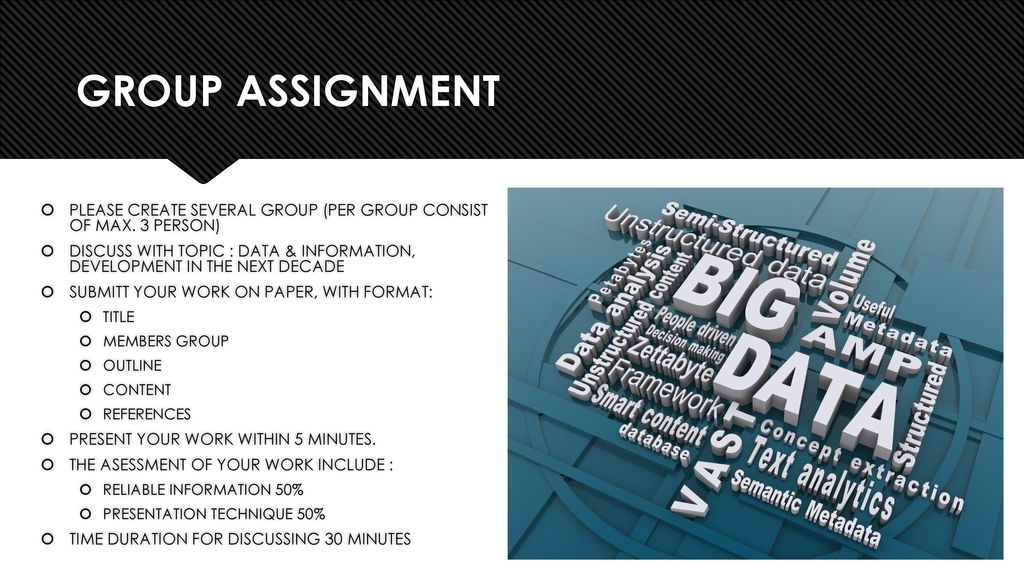 group essay assignment A primary group is basically those who really get to see who you are and what you are about with a primary group the people involved get to see many sides of you and more personal things about you are exposed.