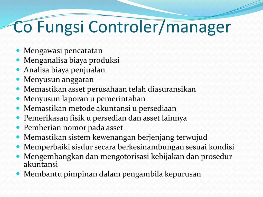 Co Fungsi Controler/manager