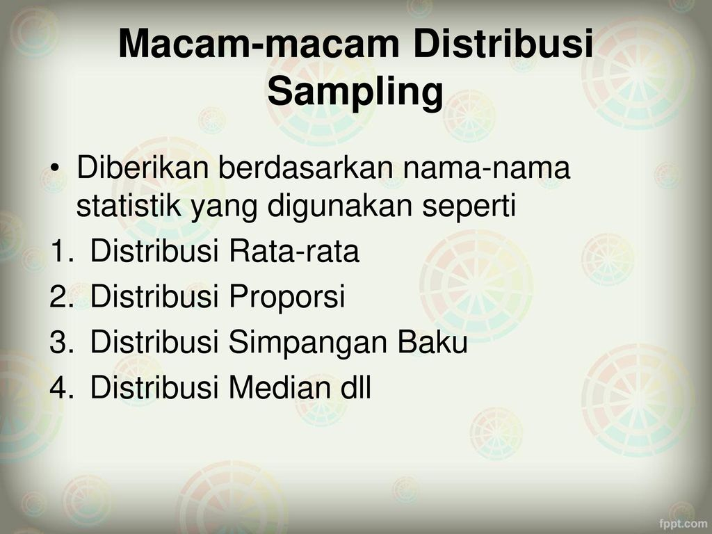 Macam-macam Distribusi Sampling