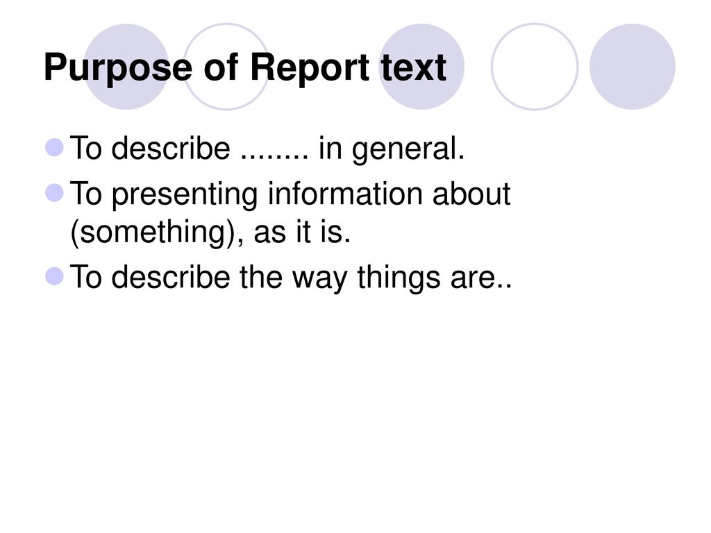 report text purpose