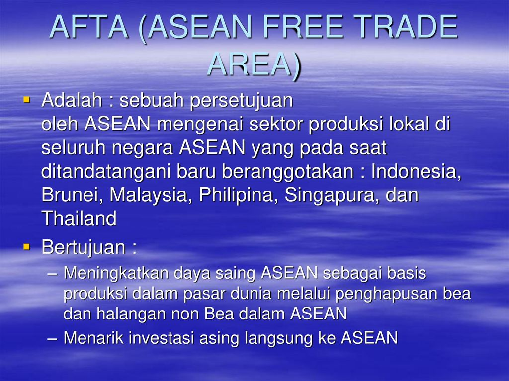 acfta indonesia trade In demonstrating its commitment and shared interest to ensuring peace, security, stability and development in southeast asia, india acceded to the treaty of amity and cooperation in southeast asia (tac) on 8 october 2003 during the 2nd asean-india summit in bali, indonesia.