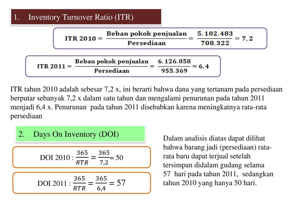 sainsbury inventory turnover ratio Inventory turnover (days) is an activity ratio, indicating how many days a firm averagely needs to turn its inventory into sales.