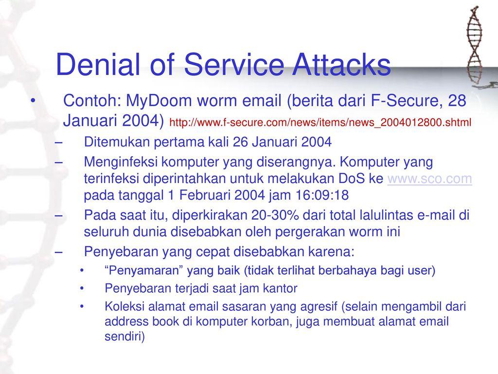 risks of a dos attack