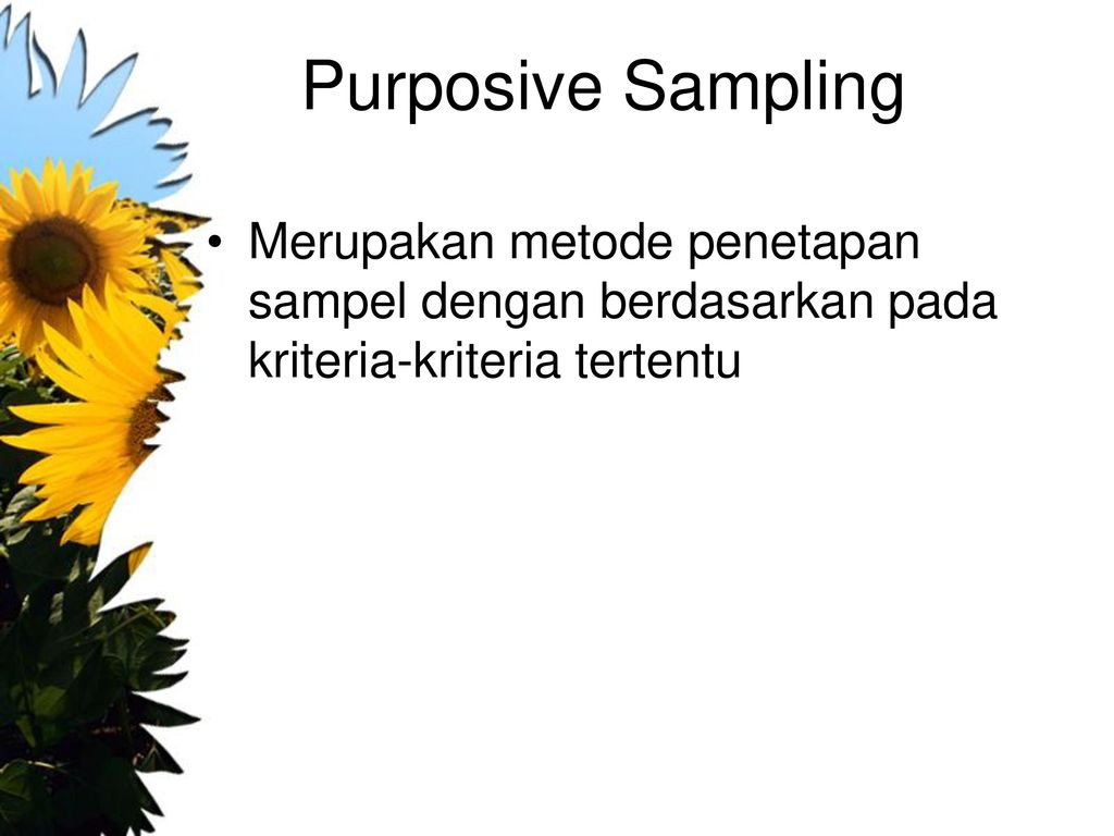 purposive sampling dissertation A purposive sample is a non-probability sample that is selected based on characteristics of a population and the objective of the study purposive sampling is also known as judgmental, selective, or subjective sampling this type of sampling can be very useful in situations when you need to reach a.