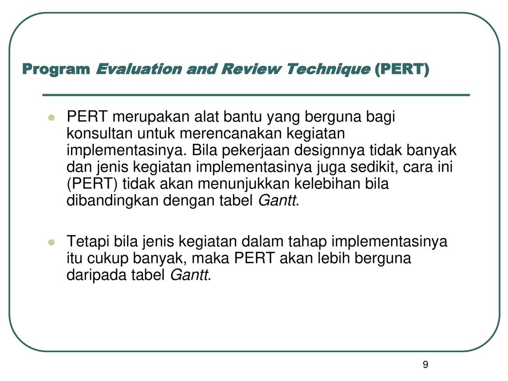 Tahap implementasi dan pelaksanaan ppt download program evaluation and review technique pert ccuart Image collections