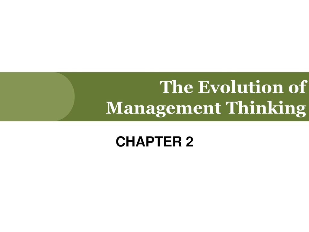 the evolution of management thought assignment Get assignment help on management theory and why is management necessary and evolution of management by business assignment help experts.