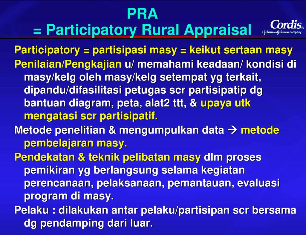 participatory rural appraisal Methods vignettes: participatory rural appraisal cornwall, a, pratt, g (2010) the use and abuse of participatory rural appraisal: reflections from practice.
