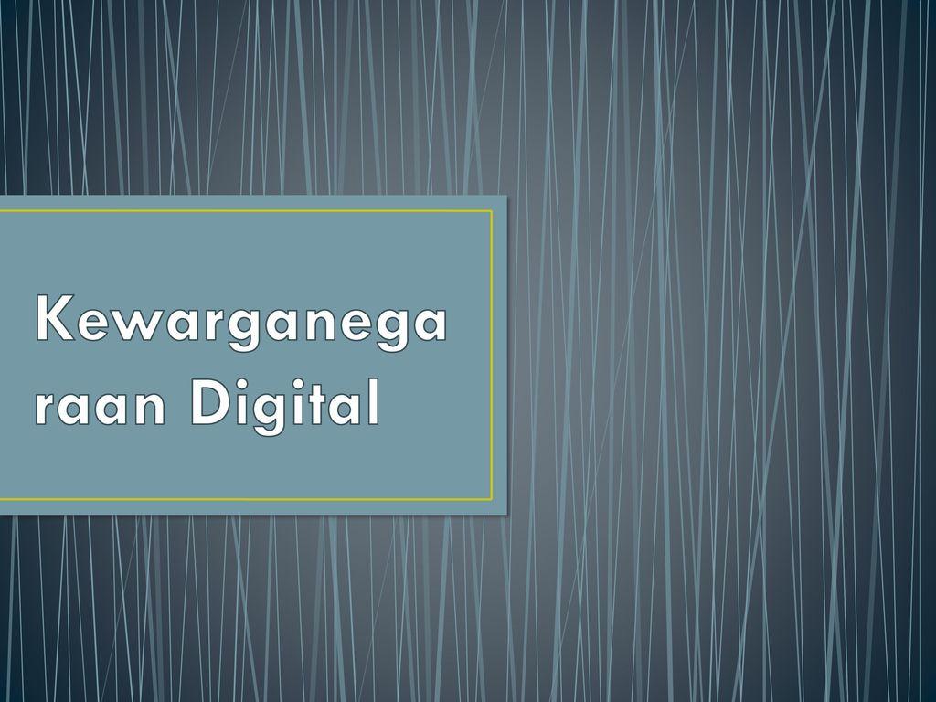 Kewarganegaraan Digital