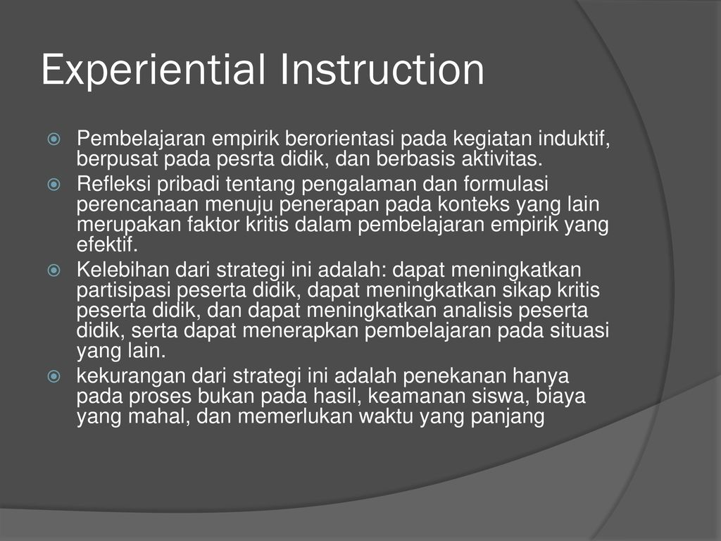 Experiential Instruction