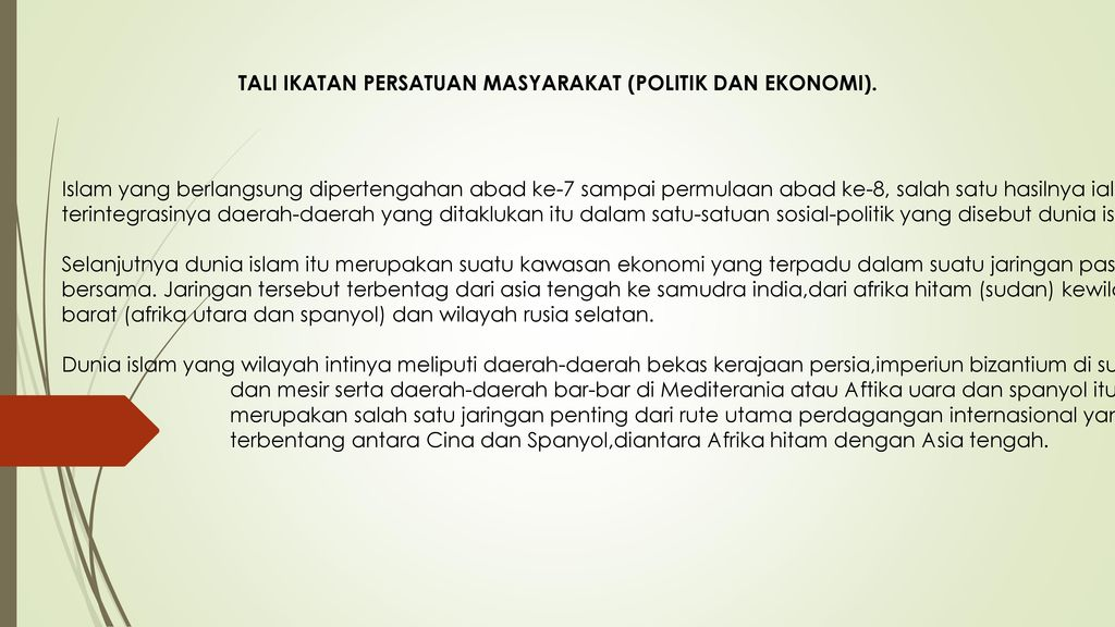 TALI IKATAN PERSATUAN MASYARAKAT (POLITIK DAN EKONOMI).