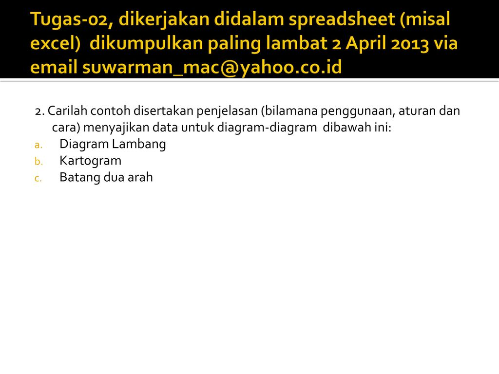Statistika kuliah 02 penyajian data ppt download 19 tugas 02 ccuart Gallery