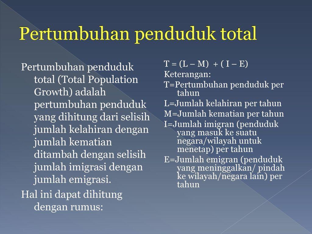 Pertumbuhan penduduk total