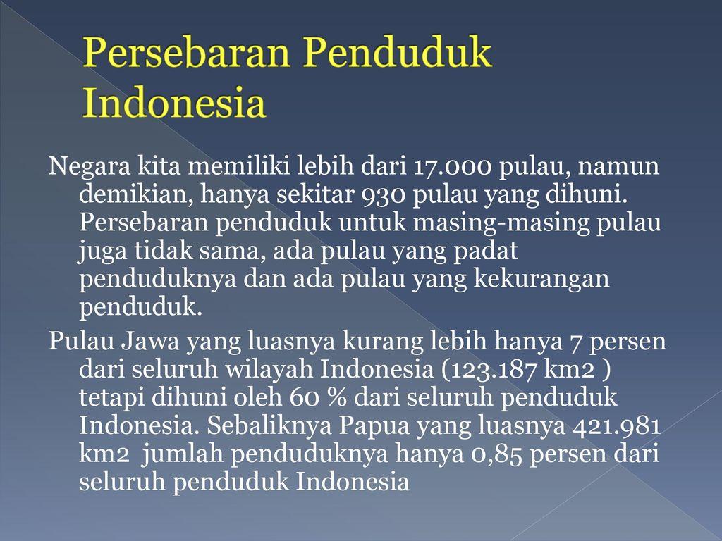 Persebaran Penduduk Indonesia
