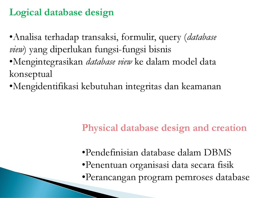physical and logical database design Transforming a logical data model to a physical database design – an overview posted on february 1 forward engineer logical model to a physical database design.