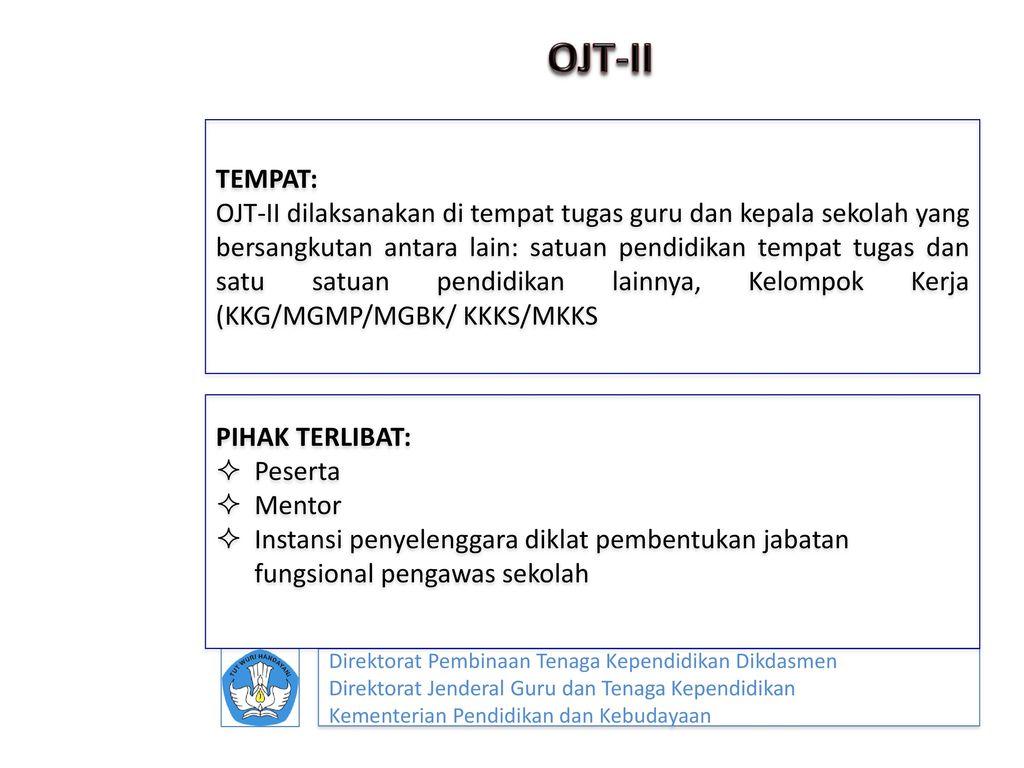 OJT-II TEMPAT: