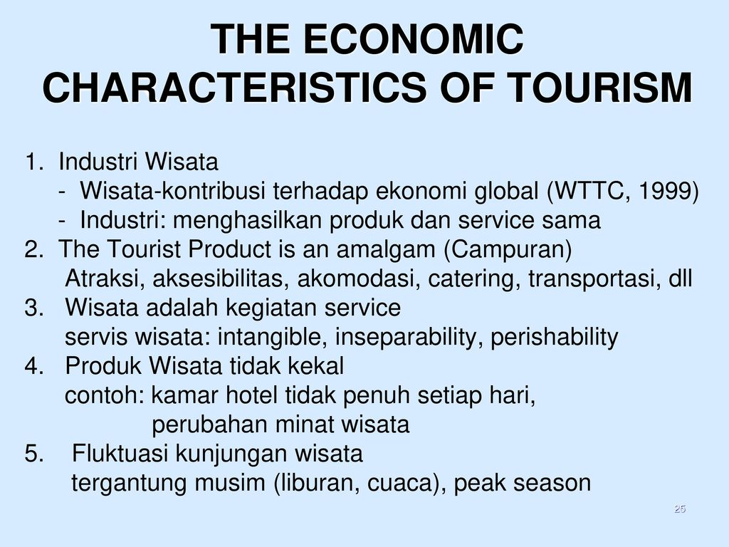 the 7 characteristics of tourism