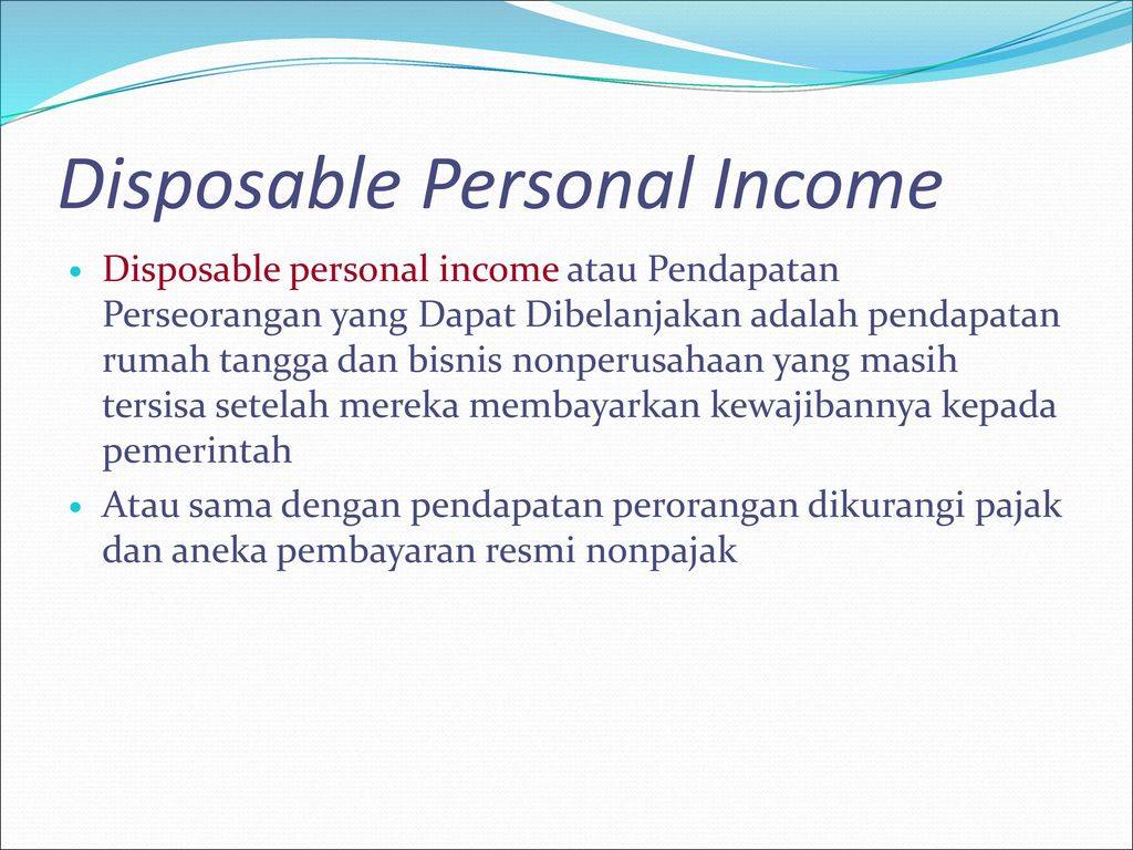 Disposable Personal Income