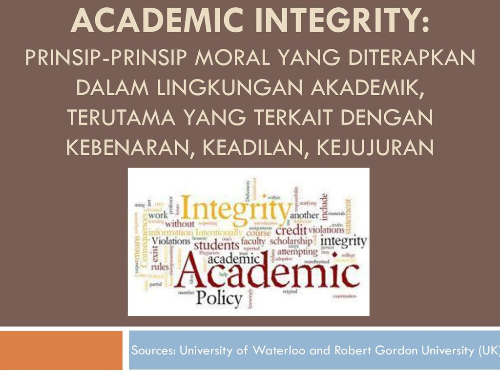 morality and academic integrity Integrity integrity is the to act contrary to your own knowledge is accepting the premise that morality is somehow different from you own self interest.