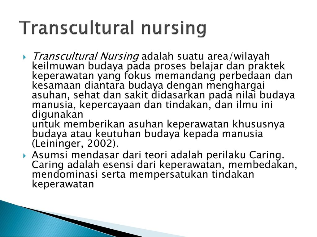 transcultural nursing paper Transcultural nursing research papers discuss the many challenges of communication and understanding in transcultural nursing.