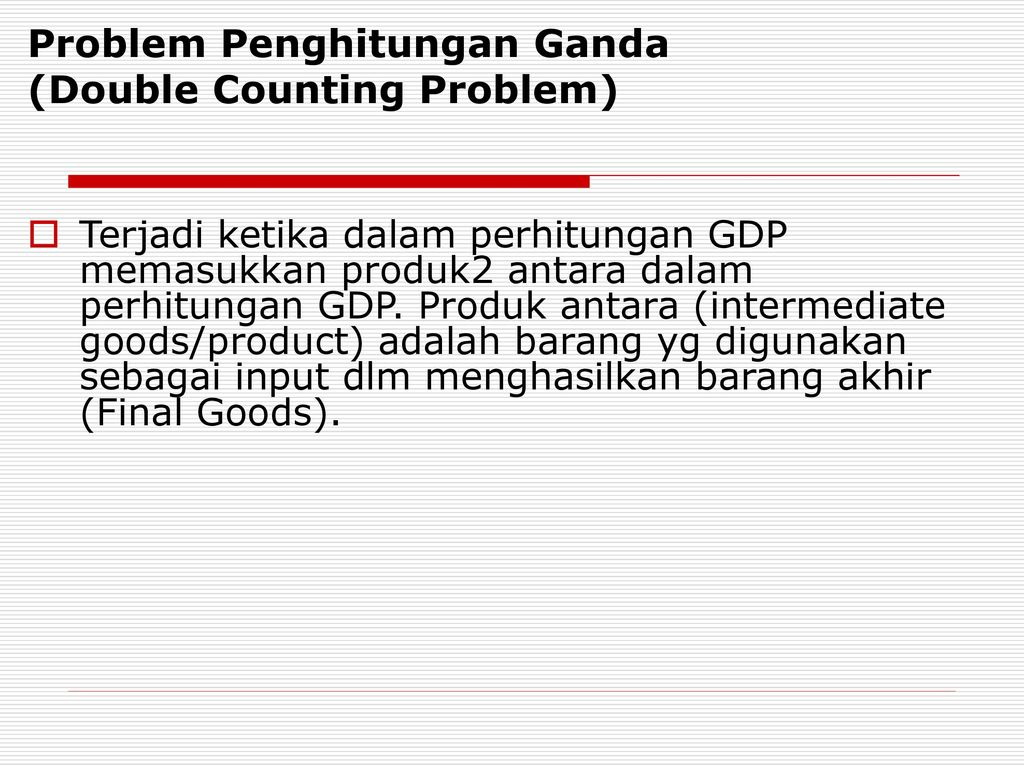double counting problem