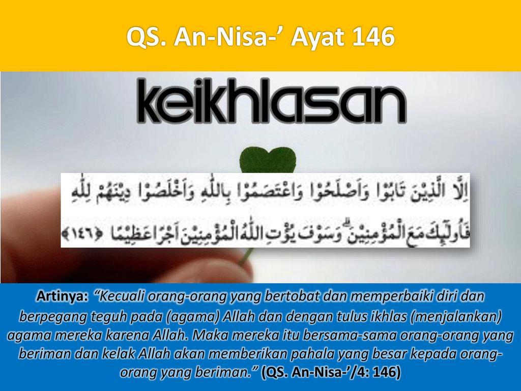 QS. An-Nisa-' Ayat 146