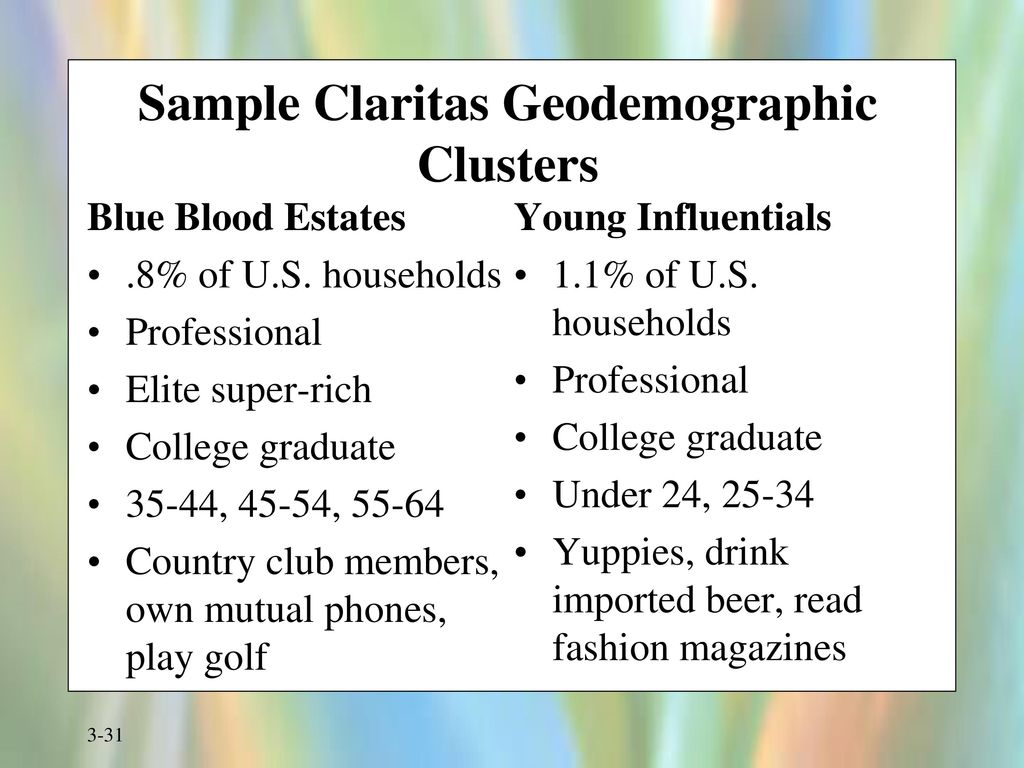 geodemographic clustering Consensus clustering contemporary geodemographic classifications utilise clustering methods in isolation from one another they do not combine their results in any way.