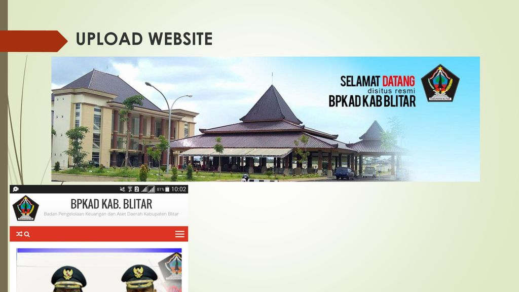 UPLOAD WEBSITE