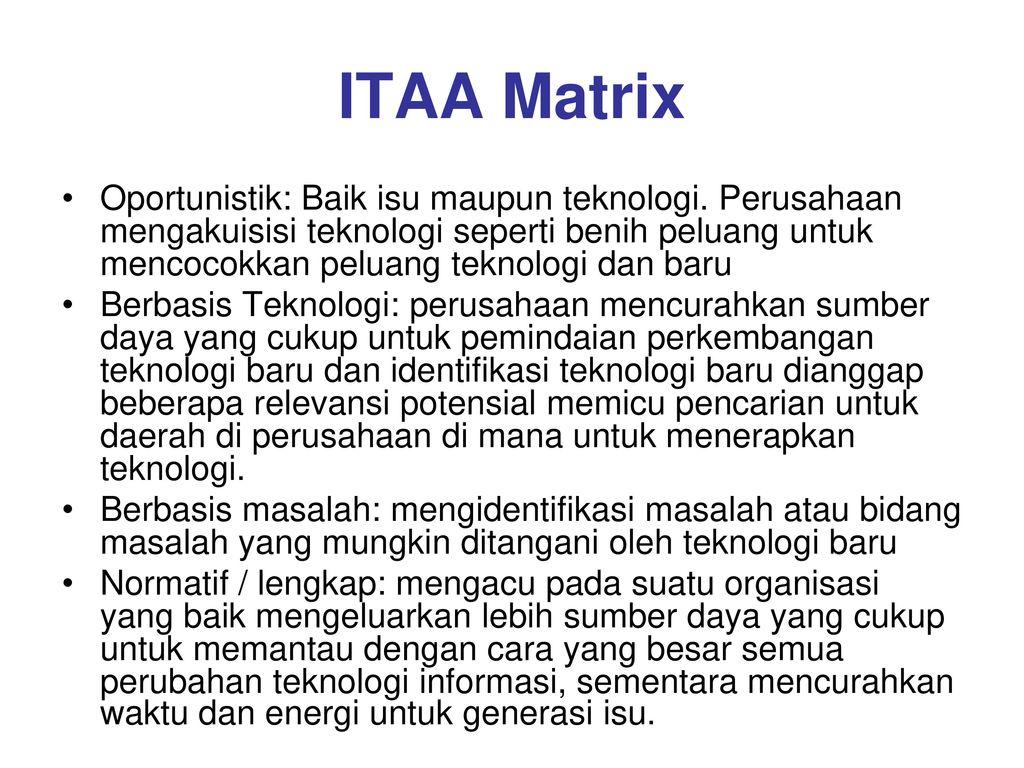 ITAA Matrix