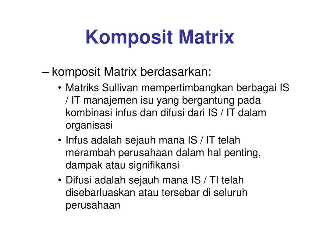 Komposit Matrix komposit Matrix berdasarkan: