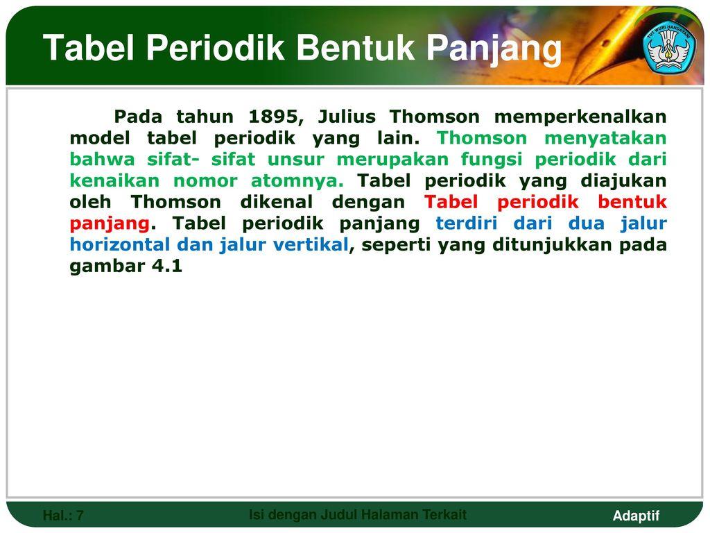 Tabel periodik untuk smk teknologi dan pertanian ppt download tabel periodik bentuk panjang urtaz Images