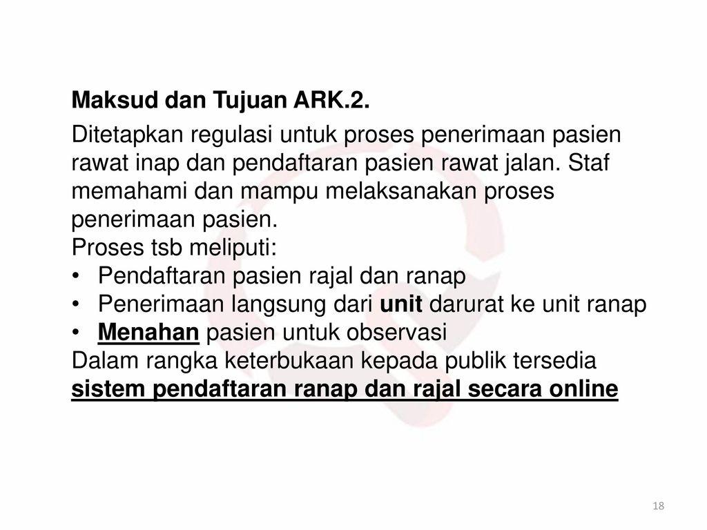 Maksud dan Tujuan ARK.2.