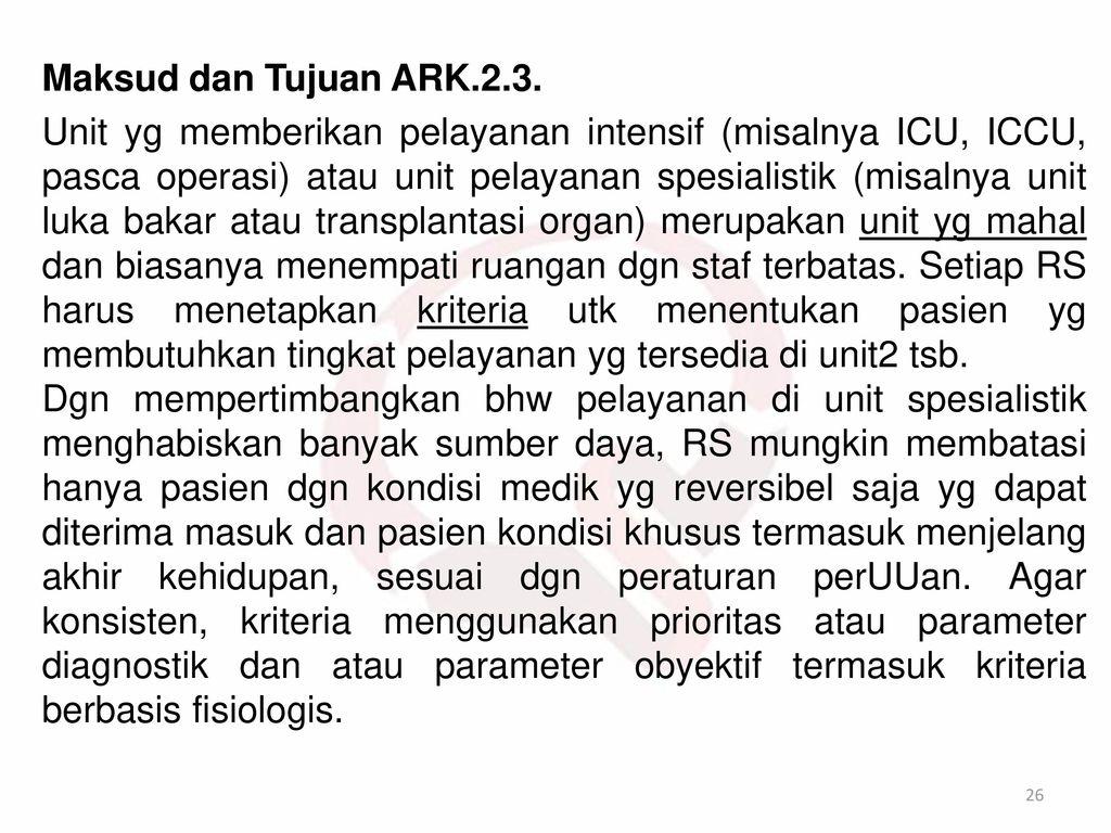 Maksud dan Tujuan ARK.2.3.