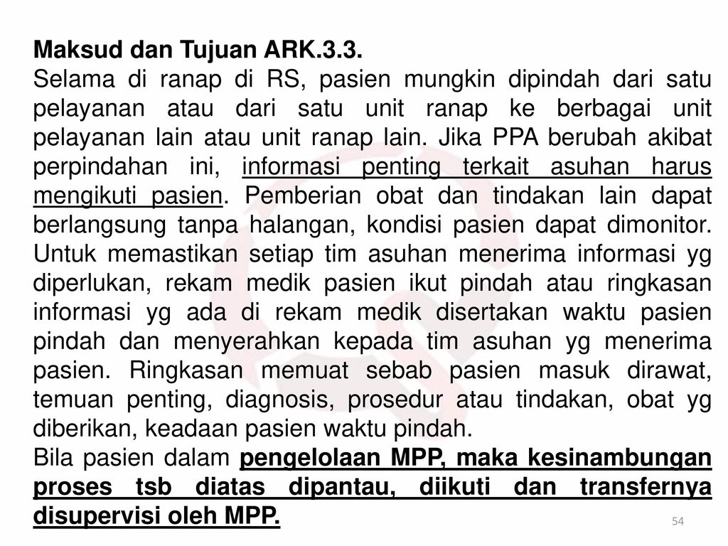Maksud dan Tujuan ARK.3.3.
