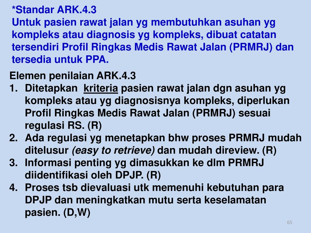 *Standar ARK.4.3
