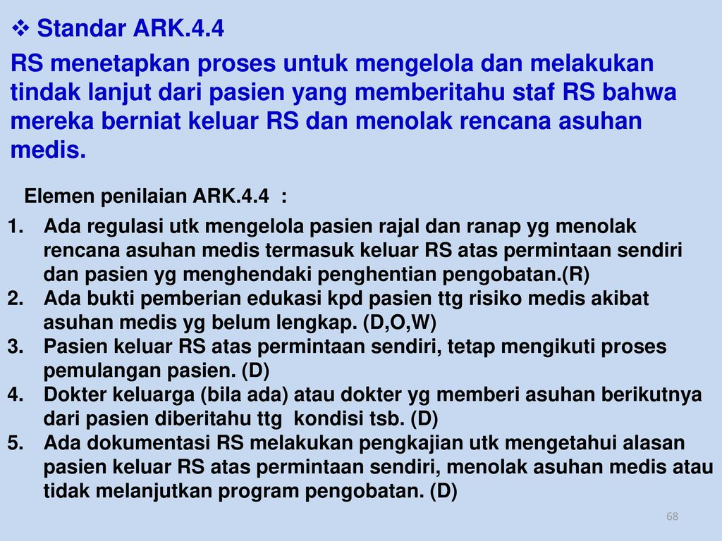 Standar ARK.4.4