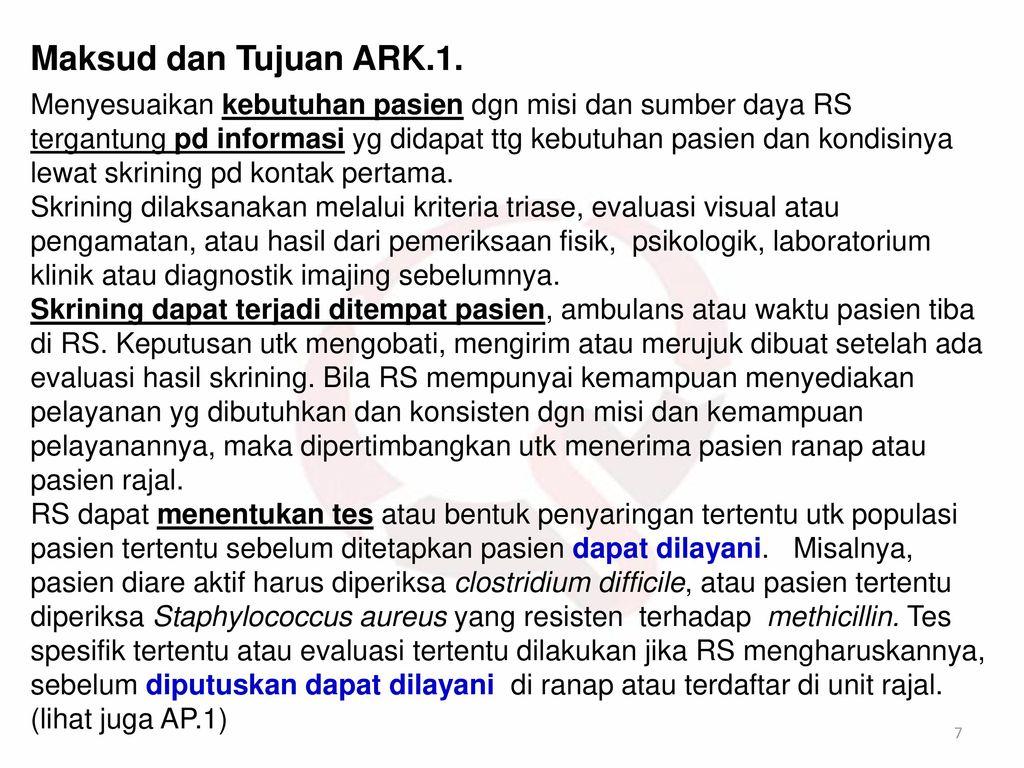 Maksud dan Tujuan ARK.1.
