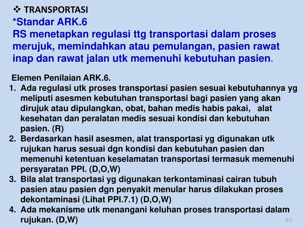 TRANSPORTASI *Standar ARK.6