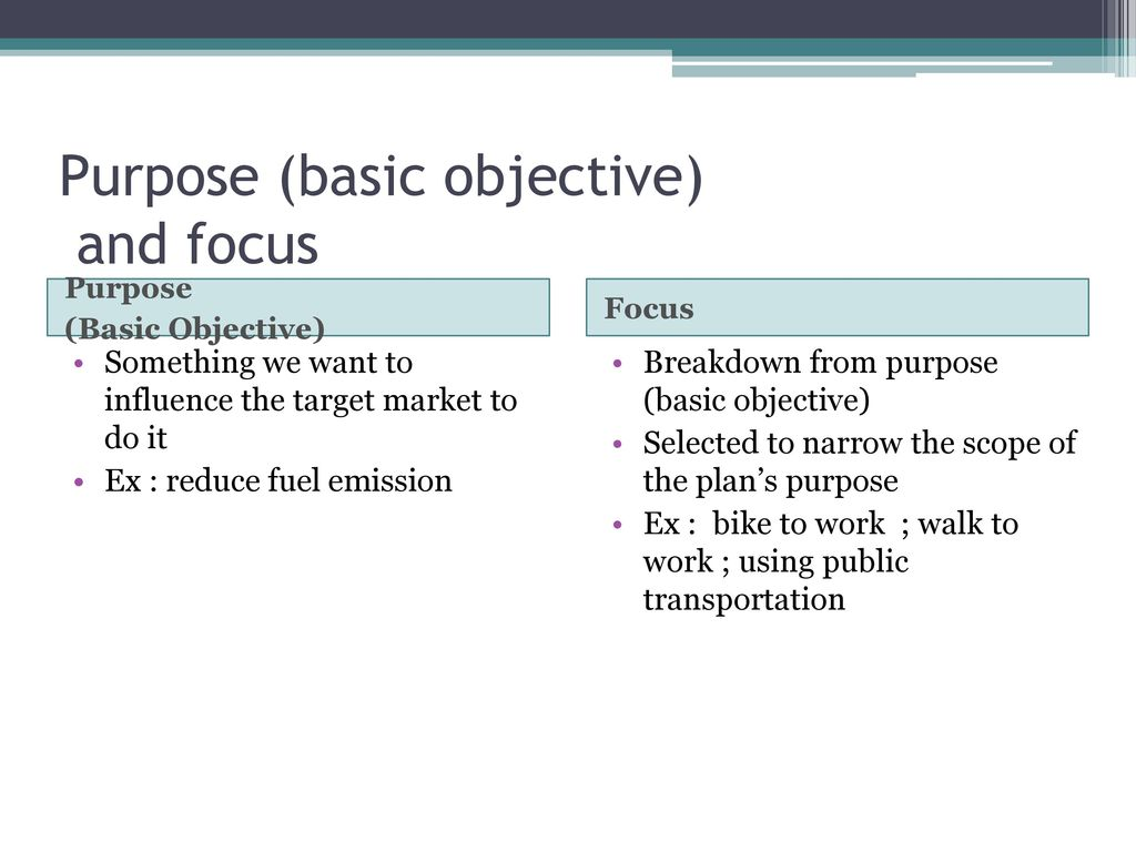 purpose scope and objectives