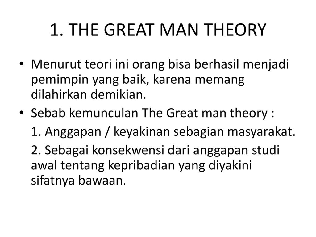 the great man theroy